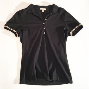 Burberry Brit black collard short sleeve shirt L